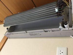 パナソニックCS-283CX2 熱交換器内部洗浄後