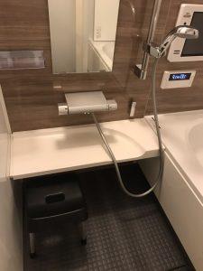 浴室クリーニングの完了後です