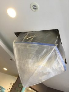 ダイキン DAIKIN FHCP45AB 天井埋込カセット形エアコンクリーニング洗浄中