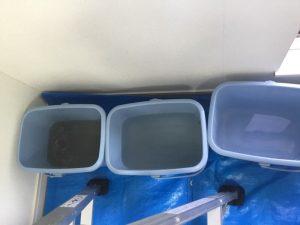 熱交換器クリーニング後の汚水