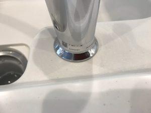 水栓周りの水あか アフター